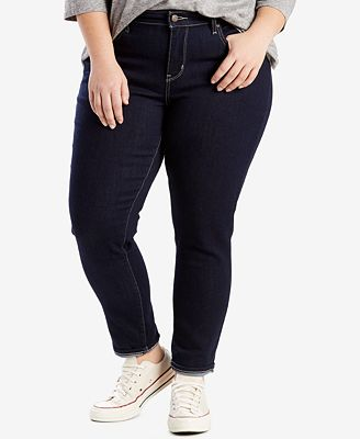 levi's® plus size 711 skinny jeans - jeans - plus sizes - macy's