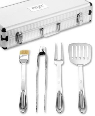 allclad stainless steel 5 piece bbq set