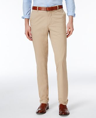 Lacoste Men's Slim-Fit Twill Pants - Pants - Men - Macy's