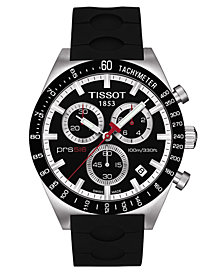 Tissot Men's Swiss Chronograph PRS 516 Black Rubber Strap Watch 42mm T0444172705100