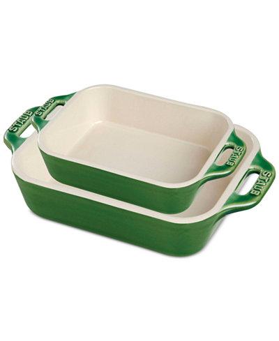 Staub Ceramic 2-Pc. Rectangular Baking Dish Set