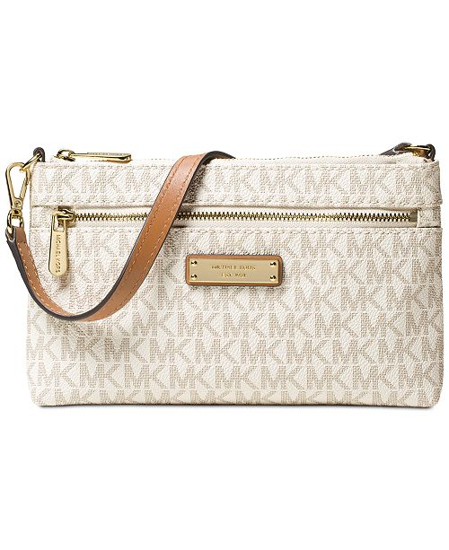 376949fcb088 Michael Kors Signature Jet Set Large Wristlet & Reviews - Handbags ...