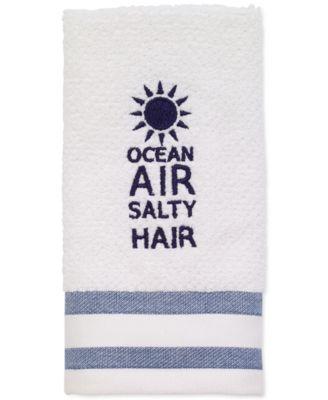 "Beach Words 12"" x 18"" Fingertip Towel"