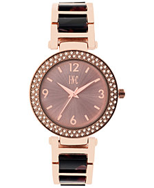 I.N.C. Women's Marbled Acrylic Bracelet Watch 36mm, Created for Macy's