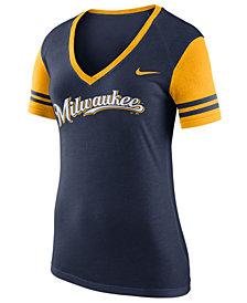 Nike Women's Milwaukee Brewers Fan Top