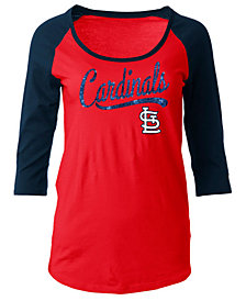 5th & Ocean Women's St. Louis Cardinals Sequin Raglan T-Shirt