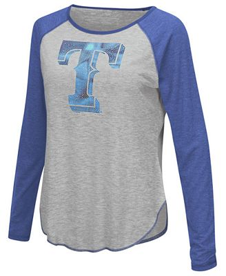 Touch by Alyssa Milano Women's Texas Rangers Line Drive Long Sleeve T-Shirt