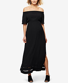 RIPE Maternity Off-The-Shoulder Maxi Dress