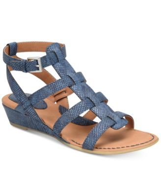 Image of b.o.c. Heidi Snake-Embossed Sandals