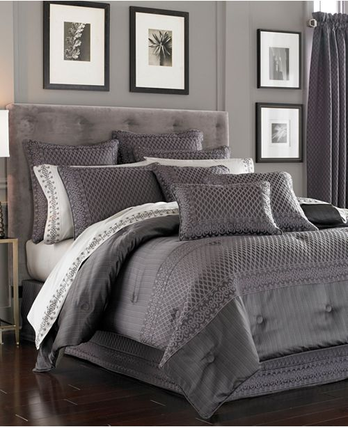 J Queen New York Bohemia Graphite Bedding Collection