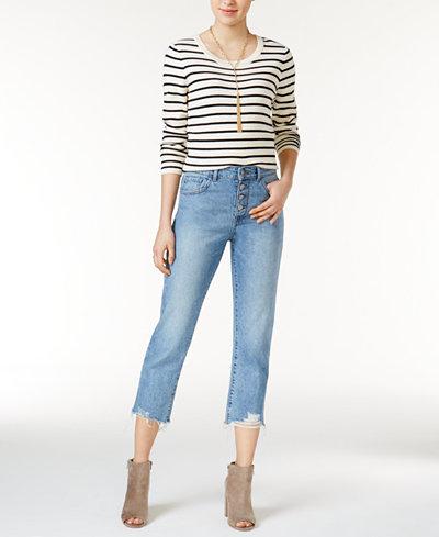 DL 1961 Patti Ripped Straight-Leg Jeans
