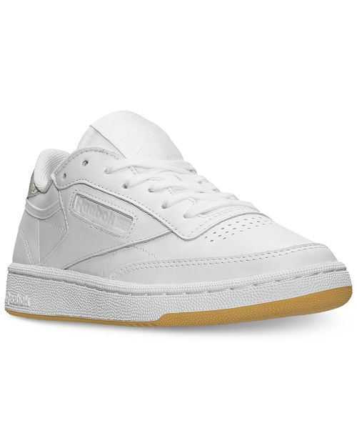 327a3f1e47d ... Reebok Women s Club C 85 Diamond Casual Sneakers from Finish ...