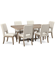 Altair Dining Furniture Set, 7-Pc. (Dining Table & 6 Side Chairs), Created for Macy's