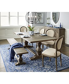 Tristan Trestle Dining 6-Pc. Set (Trestle Dining Table, 4 Side Chairs & Bench), Created for Macy's