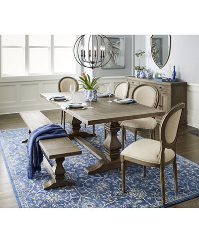 Tristan Trestle Dining Furniture Collection Created For Macys