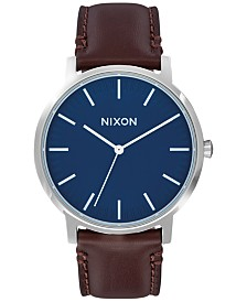 Nixon Men's Porter Leather Strap Watch 40mm