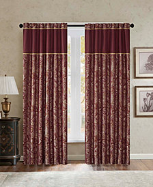 Madison Park Aubrey Paisley Jacquard Faux-Silk Rod Pocket/Back Tab Window Treatments