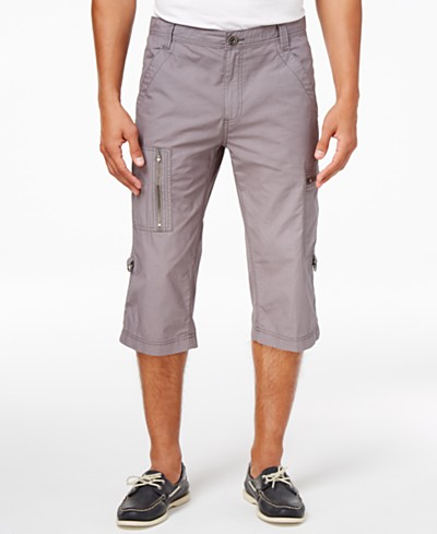 INC International Concepts Men's 18 Convertible Messenger Shorts, Created for Macy's