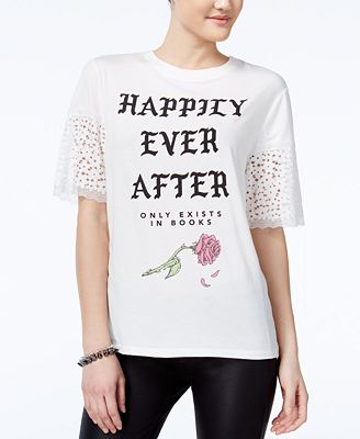 Love Tribe Juniors' Ever After Graphic T-Shirt