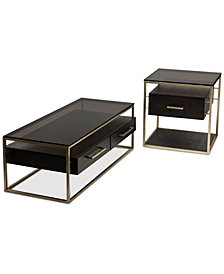 CLOSEOUT! Odyssey 2-Pc. Table Set (Rectangle Coffee Table & End Table)