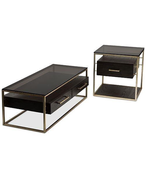 Furniture CLOSEOUT Odyssey Pc Table Set Rectangle Coffee Table - Silverado rectangular coffee table