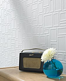 Large Squares Paintable Wallpaper