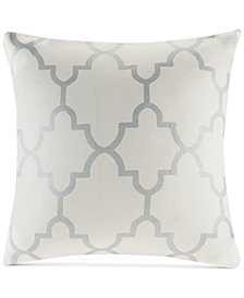 "Madison Park Saratoga Fretwork-Print 20"" Square Decorative Pillow"