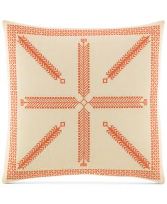"""Rio Embroidered 16"""" Square Decorative Pillow"""