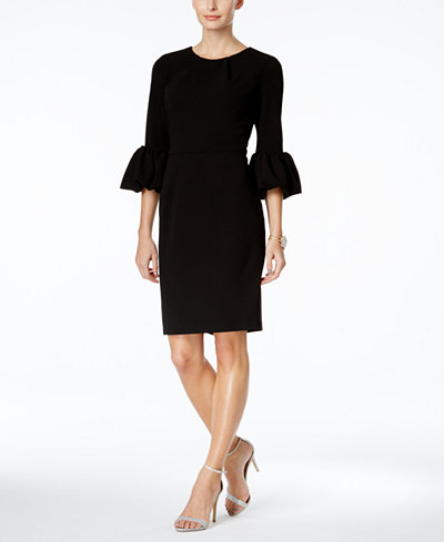 Betsy Adam Bell Sleeve Sheath Dress