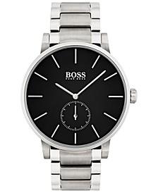 Men's Essence Black Stainless Steel Bracelet Watch 42mm 1513501