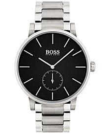 BOSS Men's Essence Black Stainless Steel Bracelet Watch 42mm 1513501