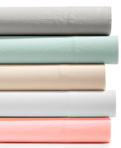 CLOSEOUT! Whim by Martha Stewart Collection Vintage Wash 4-Pc. All Cotton Sheet Sets, Created for Macy's
