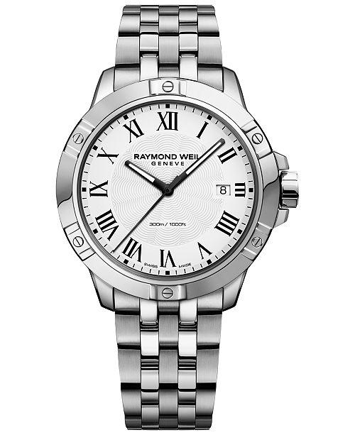 Raymond Weil Men's Swiss Tango Stainless Steel Bracelet Watch 41mm 8160-ST-00300