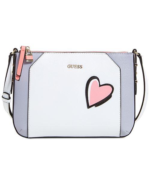 GUESS Devyn Top Zip Crossbody - Handbags   Accessories - Macy s bc28146c8c