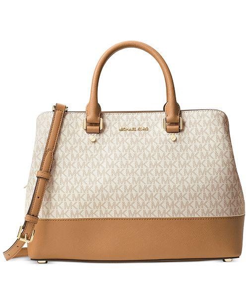 96f684d1322a ... wholesale michael kors signature savannah large satchel handbags 15447  b8dcf