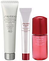 Receive a free 3-piece bonus gift with your $85 Shiseido purchase
