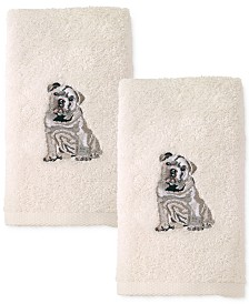 Avanti Dog 2-Pc. Cotton Hand Towel Set