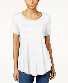 Petite Shirttail-Hem Top, Created for Macy's