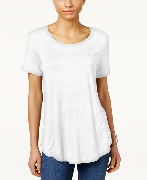 Bright Petites Jm a Petite Collection White Tops Haut CourtesCree Manches PourAvis YEHW9eD2I