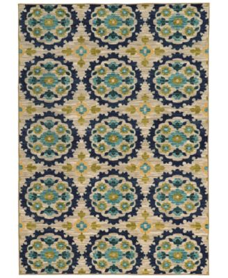 "CLOSEOUT!  Brookside Suzani Indigo 3'3"" x 5'5"" Area Rug"