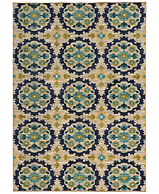"CLOSEOUT! JHB Design  Brookside Suzani Indigo 5'3"" x 7'6"" Area Rug"