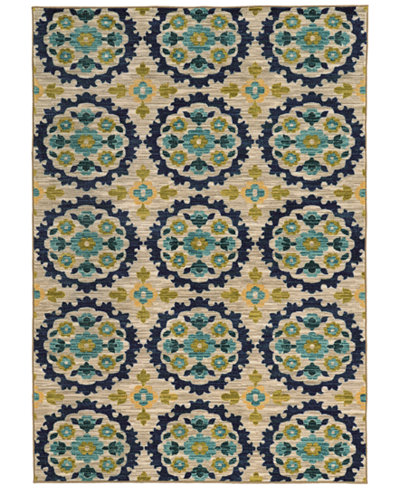 CLOSEOUT! JHB Design Brookside Suzani Indigo 6'7