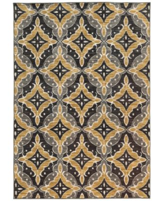 "CLOSEOUT!  Brookside Nav Gold 3'3"" x 5'5"" Area Rug"