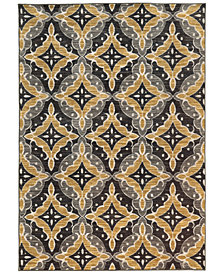 "CLOSEOUT! JHB Design  Brookside Nav Gold 6'7"" x 9'6"" Area Rug"