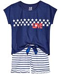 Max & Olivia 2-Pc. Love Pajama Set, Little Girls (2-6X), Big Girls (7-16)), Only at Macy's