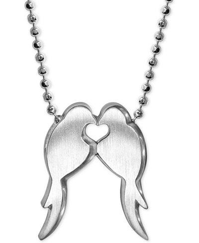 Alex Woo Lovebirds Pendant Necklace in Sterling Silver