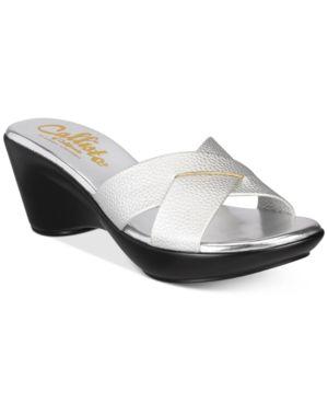 Callisto Dimple Platform Wedge Sandals Women