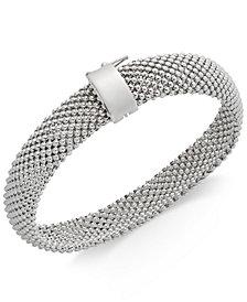 Sterling Silver Bracelet, Mesh