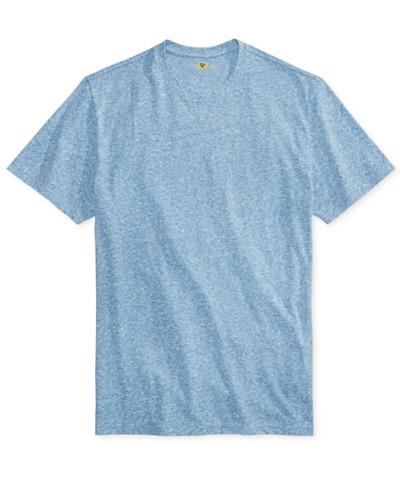 Club Room Men's Rib Knit Heathered T-Shirt, Created for Macy's