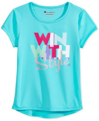 Image of Champion Win With Style Graphic-Print T-Shirt, Toddler & Little Girls (2T-6X)